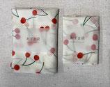 あずま袋2枚セット(ホワイトレッドチェリー)