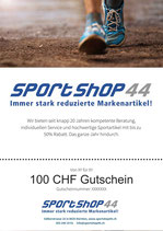 100 CHF Gutschein
