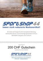 200 CHF Gutschein