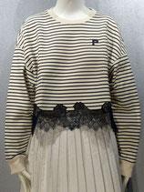 Sweater mit Spitzendetails