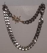 Curb Chain Choker Silver