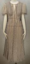 Monochrome Check Midi Dress
