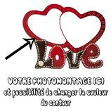 CADRE OU HORLOGE LOVE SUBLIMABLE