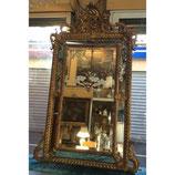 Grand Miroir à Pare-closes En Bois Et Stuc Doré
