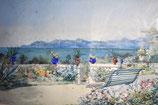 Ernest Auguste Sembach (1854-1898) - Vue Sur La Mer (Cannes)