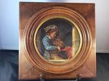 Violoniste - Peinture sur porcelaine XIXème
