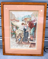 """Gouaches """"les saltimbanques"""" datée 1898"""