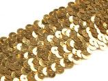 Paillettenborte gold elastisch