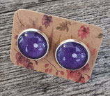 Ohrstecker violett Tupf