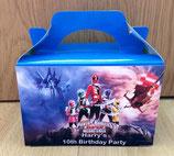 Power Rangers DIY Party Box/Bag LABELS Ref PB31 **NO BOX OR BAG SUPPLIED**