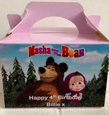 Masha The Bear DIY Party Box/Bag LABELS Ref PB61 **NO BOX OR BAG SUPPLIED**