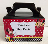 Minnie Mouse DIY Party Box/Bag LABELS Ref PB15 **NO BOX OR BAG SUPPLIED**