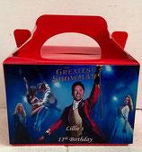 Greatest Showman DIY Party Box/Bag LABELS Ref PB51 **NO BOX OR BAG SUPPLIED**