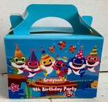 Baby Shark DIY Party Box/Bag LABELS Ref PB45 **NO BOX OR BAG SUPPLIED**
