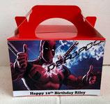 Deadpool DIY Party Box/Bag LABELS Ref PB36 **NO BOX OR BAG SUPPLIED**