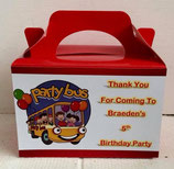 Party Bus DIY Party Box/Bag LABELS Ref PB30 **NO BOX OR BAG SUPPLIED**