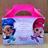 Shimmer & Shine DIY Party Box/Bag LABELS Ref PB20 **NO BOX OR BAG SUPPLIED**