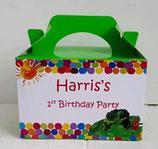 Hungry Catterpilla DIY Party Box/Bag LABELS Ref PB62 **NO BOX OR BAG SUPPLIED**