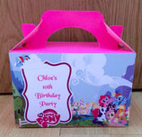 My Little Pony DIY Party Box/Bag LABELS Ref PB13 **NO BOX OR BAG SUPPLIED**