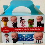 Boss Baby DIY Party Box/Bag LABELS Ref PB34 **NO BOX OR BAG SUPPLIED**
