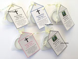 Remembrance, Funeral DIY Organza bag, Candle & Personalised Tag Favours