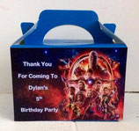 Avengers Infinity DIY Party Box/Bag LABELS Ref PB37 **NO BOX OR BAG SUPPLIED**