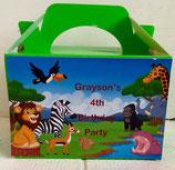 Jungle DIY Party Box/Bag LABELS Ref PB29 **NO BOX OR BAG SUPPLIED**