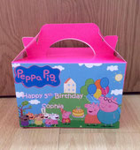 Peppa pig DIY Party Box/Bag LABELS Ref PB25 **NO BOX OR BAG SUPPLIED**