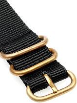 Zulu Bronze schwarz 20 mm