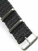 Braided Nato Matt schwarz 22 mm