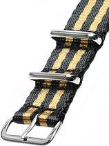 Seatbelt Nato »Goldfinger« Polished