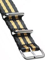 XL Seatbelt Nato »Goldfinger« Polished