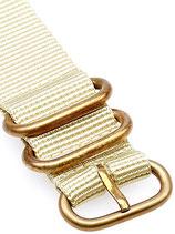 Reduced Zulu Bronze beige 20 mm
