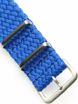 Braided Nato Matt blau 22 mm