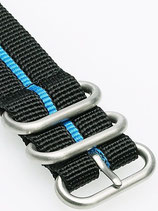 Zulu HC 3 Ring »Stripey Blue« 24mm