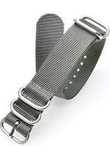 Reduziertes Zulu HC 5 Ring »Silver« 24 mm