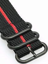 Zulu PVD 5 Ring »Stripey Red«