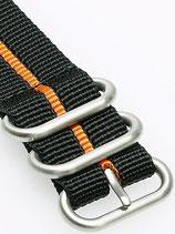 Zulu HC 3 Ring »Stripey Orange«