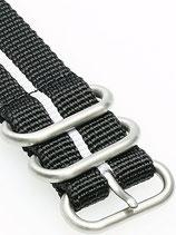 Zulu HC 3 Ring »Stripey White«