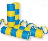 Luftschlangen, gelb-blau