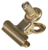 Metall-Clip mit Schraube gold