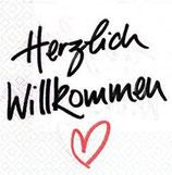 """Serviette 24 """"Herzlich Willkommen"""""""