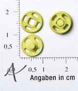 Druckknopf hellgrün