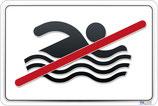 Baignade interdite pictogramme