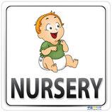 Plaque nursery avec image bébé
