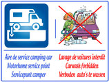 Camping car lavage interdit