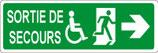Sortie de secours handicapé