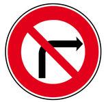 """B2b """"interdiction de tourner à droite"""""""