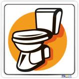 Plaque de porte pictogramme toilette