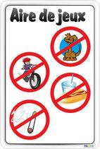 Interdictions aire de jeux